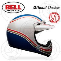 CASCO INTEGRALE BELL MOTO-3 SE SPECIAL EDITION RSD MALIBU BIANCO BLU CAFE RACER