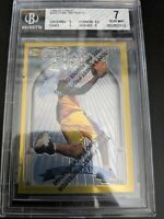 1996-97 Topps Finest Kobe Bryant Gold Heirs Rookie w Coating Lakers RC BGS 7