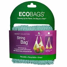 ECOBAGS® Market Collection Classic String Market Bags Tote Handle~Washed Blue
