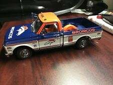 Denver Broncos Tailgate 1972 Chevy Cheyenne Truck Rare HTF with accessories