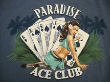 Paradise Ace Club Card Card Game Poker Sexy Hot Cute Girl Pinup Pin Up T Shirt L