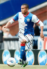 Blackburn Rovers F.C Martin Olsson Hand Signed 11/12 Photo 12x8 2.