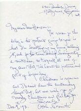 OTTOLA NESMITH Vintage Original Rare AUTOGRAPH Letter & Envelope Set DEC 1971
