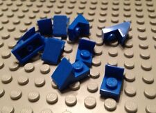 NEW / LEGO / 10 Blue Parts / 1x2 Roof Tile W-1/3 Plate / 45 Deg / 4620297
