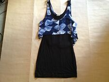KENJI Womens Blue Black Dress Size 8 Small Festival Party Clubbing  Navy Light