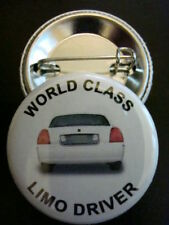 """3-PK WORLD CLASS LIMO DRIVER 1-1/4"""" Pinback Buttons NEW"""