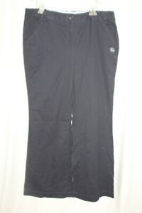Lands End Women's Everyday Chino Pants Khaki True Navy Trouser Size 16 New