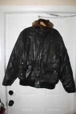 SAM. NEW YORK  BLACK REMOVABLE  FUR HOODED DOWN FEATHER  PUFFER JACKET SIZE  XL