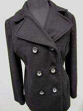 Gap Jacket Coat Wool Blend Lined Button Down Women's Size M