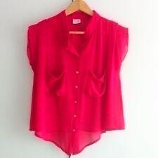 TTR The Tinsel Rack Red Chiffon Boxy Shirt