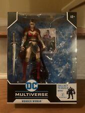 McFarlane DC Multiverse Last Knight on Earth Wonder Woman Only NO BAF. Loose