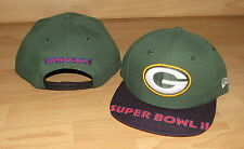 Green Bay Packers NE 9FIFTY Super Bowl II Snapback Mens Hat Cap - SB visor