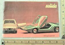 1972 Solido Toys sales catalog