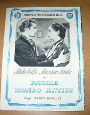 CINEMA FLYER FILM MARIO SOLDATI PICCOLO MONDO ANTICO ALIDA VALLI MASSIMO SERATO