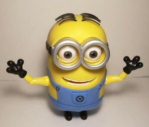 Talking Rubber Minion Stuart  Despicable Me Thinkway Toys Retired Large 7 INCHES
