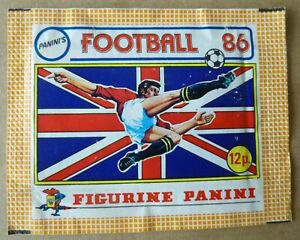 PANINI'S FOOTBALL 86 STICKER PACKET FIGURINE PANINI 1 x UNOPENED Packet