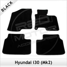 Hyundai i30 Mk2 2012 onwards Fully Tailored Fitted Carpet Car Mats BLACK