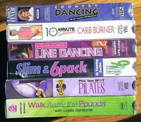 Workout Movies Lot VHS Tapes Dance (Sealed)