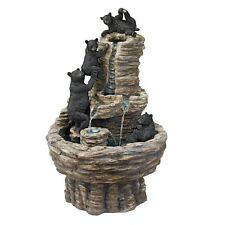 KY1015 - Rocky Mountain Splash Black Bears Garden Fountain w/Pump!