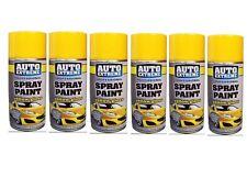 New 6 x 400ml Yellow Gloss Spray Paint Aerosol Can Auto Extreme Car Van Bike Etc