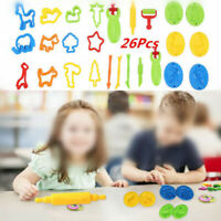 26pcs Tool Play Set Modelling Doh Clay Craft Rolling Pin Cookie Cutter DIY
