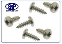 """POZI PAN SELF TAPPING SCREWS A2 STAINLESS STEEL TAPPERS 8G X 1/2"""" - 4.2 X 13MM"""