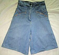 Vintage 70s  SANROY Denim Flared Leg Shorts / Skort  w Tag size 8 Scooter Skirt