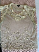 Vintage Topshop Lace Top Blouse UK14