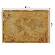 New Large Vintage Style Retro Paper Poster Gifts Inch Globe Old World Map Decor