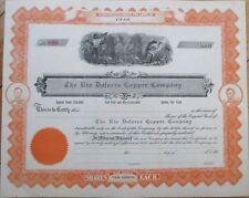 1910 Mining Stock Certificate: 'Rio Dolores Copper Co.' - Utah Ut
