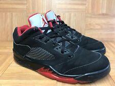 b1d5e6636ab0a1 RARE🔥 Air Jordan 5 Retro Low Alternate 90 Black Gym Red Metallic 819171-001