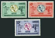 Cambodia 146-148,MNH.Michel 189-191. ITU-100,1965.Communication equipment.
