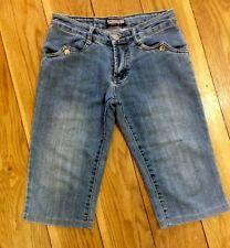 Women Denim Shorts 8 W27 Hot Pant Blue Knee Long Cotton Summer Holiday Festival