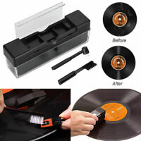 1 Set 2in1 Vinyl Record Cleaning Brush Set Stylus Velvet Anti-static Cleaner Kit