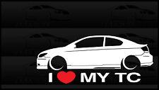 I Heart My tC Sticker Love Slammed Low JDM Scion Toyota Gen1 Gen2 Coupe Decal