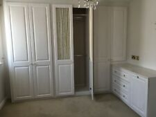 Fitted bedroom furniture, wardrobes, overhead cupboards & bedside cabinets White