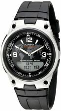Casio AW80-1A2V, Combo Watch, Databank, Black Resin, 3 Alarms, 10 Year Battery