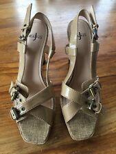 Jasper Conran Jeans Patent Nude Strappy Sandals Size 6