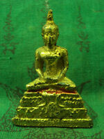 Phra Rattana Buddha Meditation Statue Magic Talisman Real Thai Buddhist Amulet