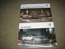 VW Golf VII GTD Prospekt Brochure von 5/2014, 30 Seiten + Preisliste (R)