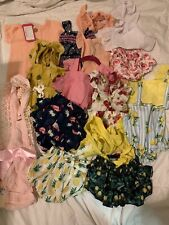 Baby Clothes 12 Month Silky Body Suit Lot Perfect For Photoshoots Ruffle Butts