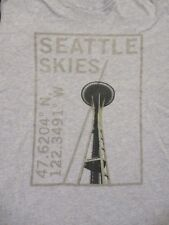 M gray SEATTLE SKIES SPACE NEEDLE t-shirt by OLD NAVY
