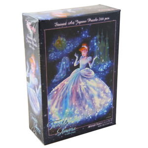 Tenyo Cinderella Wrapped in Magic Light Stained Glass 266 Piece Jigsaw Puzzle NE
