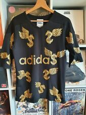 Jeremy Scott For Adidas Black And Gold Glitter T-shirt 38 Chest