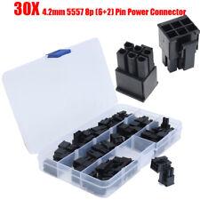 30X ATX/EPS PCI-E GPU 4.2mm 5557 8P (6+2) Pin Male Power Connector Plastic Shell