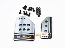 2PCS RACING SPORTS JDM BRAKE GAS PEDAL PAD COVER KIT AUTO Automatic Car TRANS