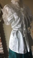 Large White Wedding short jacket lingerie New NWT Linea Donatella 12/14 XL