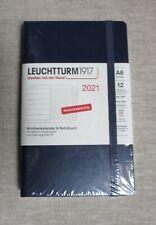 LEUCHTTURM1917  WOCHENKALENDER & NOTIZBUCH 2021 Pocket A6 Hardcover Navy