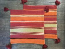 """Pottery Barn Wool Kilim Stripe Pillow Cover 24"""" x 24""""--Set of 2-New Without Tags"""