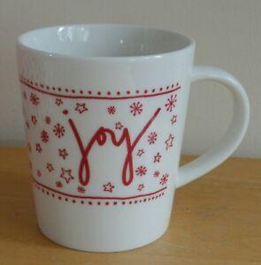 Royal Doulton Ellen Degeneres Red & White Christmas Joy Mug (BNWOT)